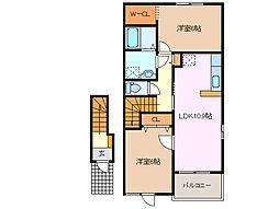 サンフィオーレA[2階]の間取り
