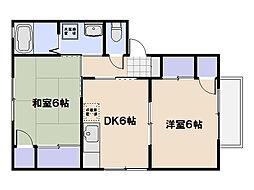 リバーサイドコーポA棟[1階]の間取り