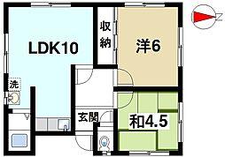 [一戸建] 奈良県奈良市宝来2丁目 の賃貸【奈良県 / 奈良市】の間取り