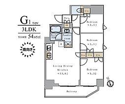 JR山手線 上野駅 徒歩12分の賃貸マンション 9階3LDKの間取り
