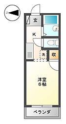 コーポLuLu[1階]の間取り