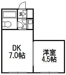 北海道札幌市中央区南四条西10丁目の賃貸マンションの間取り