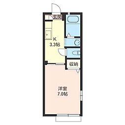 くすのきハウスB[1階]の間取り
