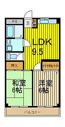 ビュープラザ斉藤I[302号室]の間取り