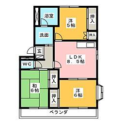 ダイサンサス81[2階]の間取り