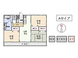 竹屋台ハウス3[3101号室]の間取り