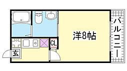 ベルエアー塚本通[5F号室]の間取り