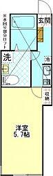 ウィンレックス横須賀[203号室]の間取り