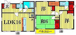 [一戸建] 埼玉県越谷市東越谷5丁目 の賃貸【/】の間取り