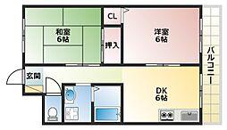 サンシャイン芝田ハイツ[3階]の間取り