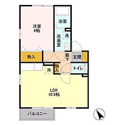 旭区鶴ヶ峰本町3丁目 メゾンラ・メール202号室[2階]の間取り