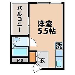 笹田ビル[4-A号室]の間取り