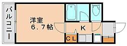 ダイナコート箱崎II[6階]の間取り