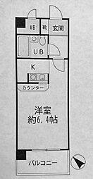 NICEアーバン横濱駅東館[202号室]の間取り