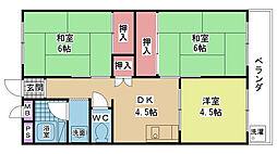 岩井マンション[0200号室]の間取り