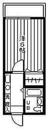 センチュリ−ハウスB[205号室]の間取り