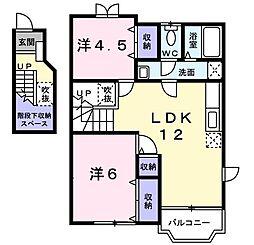 クレスト−ル矢三2号館[0201号室]の間取り