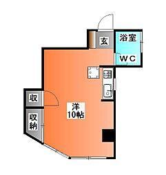 恩田ハイツ[3階]の間取り