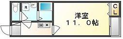 香川県坂出市福江町の賃貸アパートの間取り