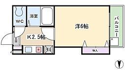 スタジオM[6階]の間取り