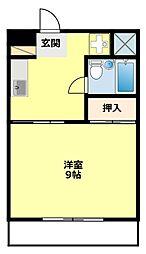 愛知県豊田市平和町4丁目の賃貸アパートの間取り