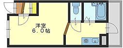 清洲プラザ高井田[3階]の間取り