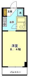 飯能市川寺 第1新井マンション[2階]の間取り
