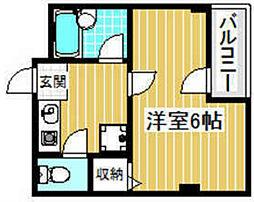 大阪府高槻市芥川町2丁目の賃貸マンションの間取り