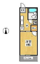 スカイパルE[2階]の間取り