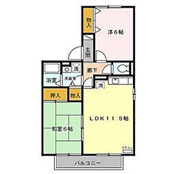 ルミエール赤坂[2階]の間取り