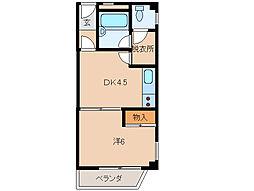 シャンティイ和歌浦[3階]の間取り