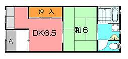 鍵田ハイツ[2階]の間取り