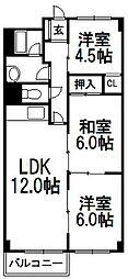 リバーハイム昇栄[3階]の間取り
