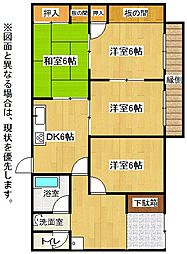 [一戸建] 福岡県北九州市小倉北区今町3丁目 の賃貸【/】の間取り