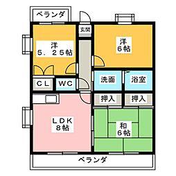 エスペランサ・和[3階]の間取り