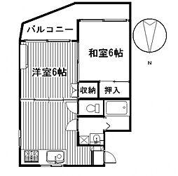 アイカワハイツ[3B号室号室]の間取り
