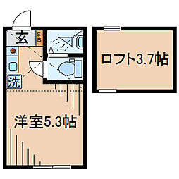 Huvafen Fushi 鶴見[204号室]の間取り