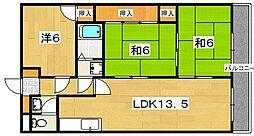 カラジュームマンション[2階]の間取り