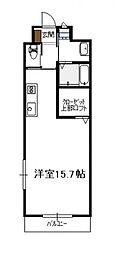 プログランツ1R(Cタイプ)[503号号室]の間取り