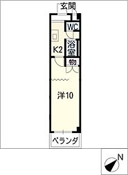 栗真マンション[2階]の間取り
