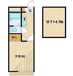 神奈川県大和市西鶴間2の賃貸アパートの間取り