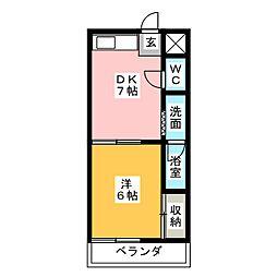 横堀ハイム[1階]の間取り