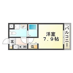 セルジュYS東園田[1階]の間取り