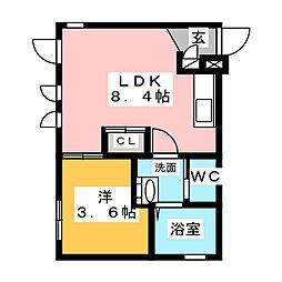 Ceres岩塚駅前 A[3階]の間取り