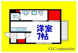 JR京葉線 葛西臨海公園駅 徒歩17分の賃貸アパート 2階1DKの間取り