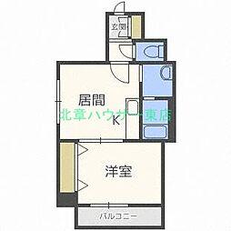 北海道札幌市東区北二十三条東16の賃貸マンションの間取り