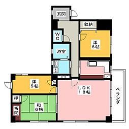 561YAMATEビル[5階]の間取り