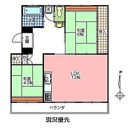 岩田材木ビル[105号室]の間取り