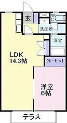 ユートピア橋本[     1階号室]の間取り