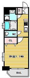 レオンコンフォート難波ミラージュ[4階]の間取り